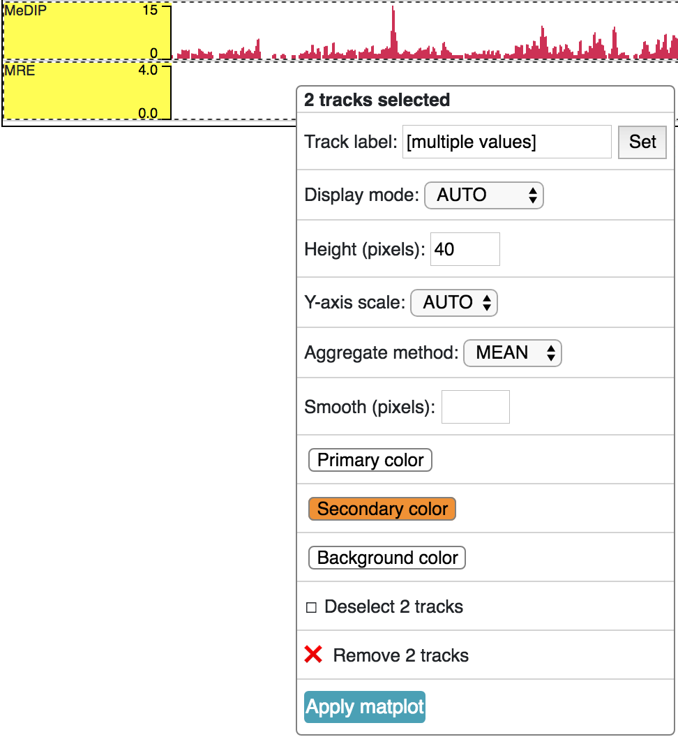 Tracks — WashU Epigenome Browser documentation